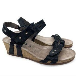 Mephisto Minoa wedge sandal strappy leather